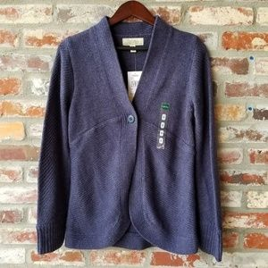 NEW cabelas Addison Cardigan knit Sweater blue